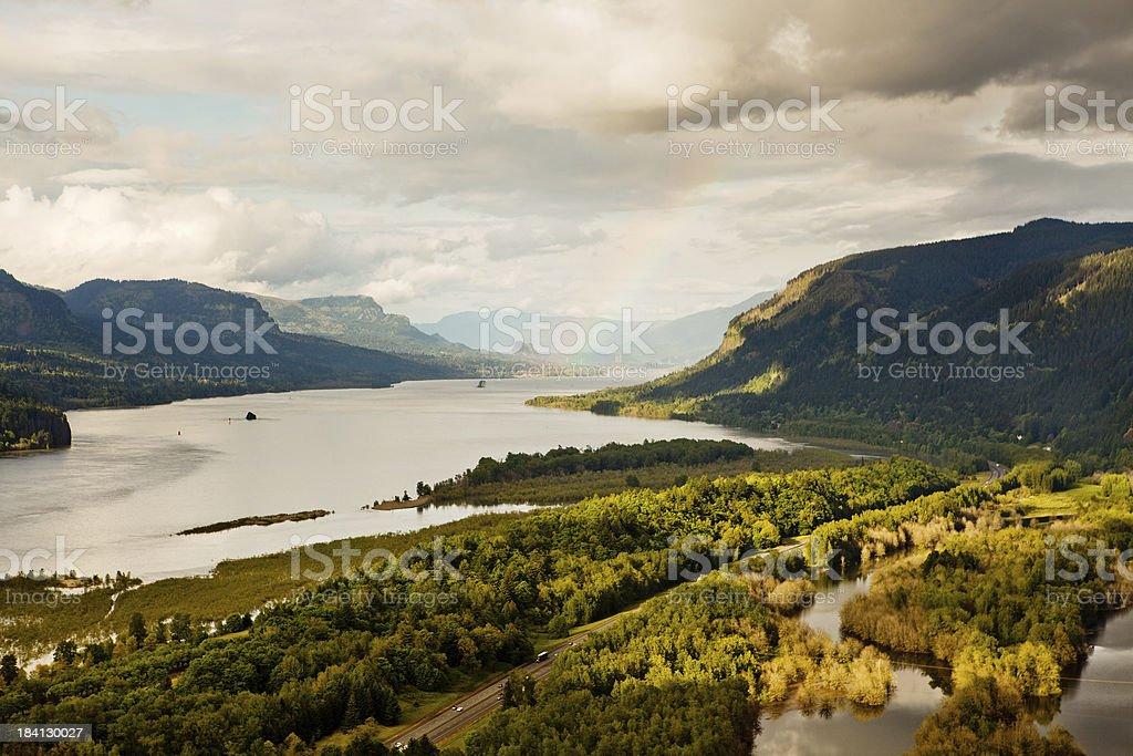 Columbia River Gorge scenic stock photo