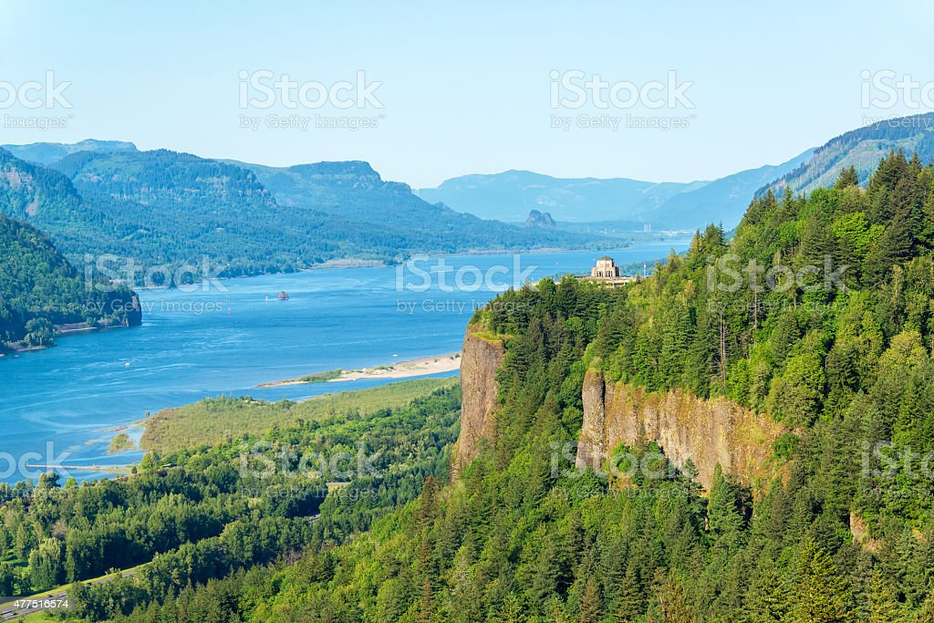 Columbia River Gorge View stock photo