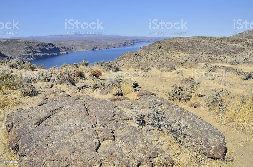 Columbia River Gorge, Washington royalty-free stock photo