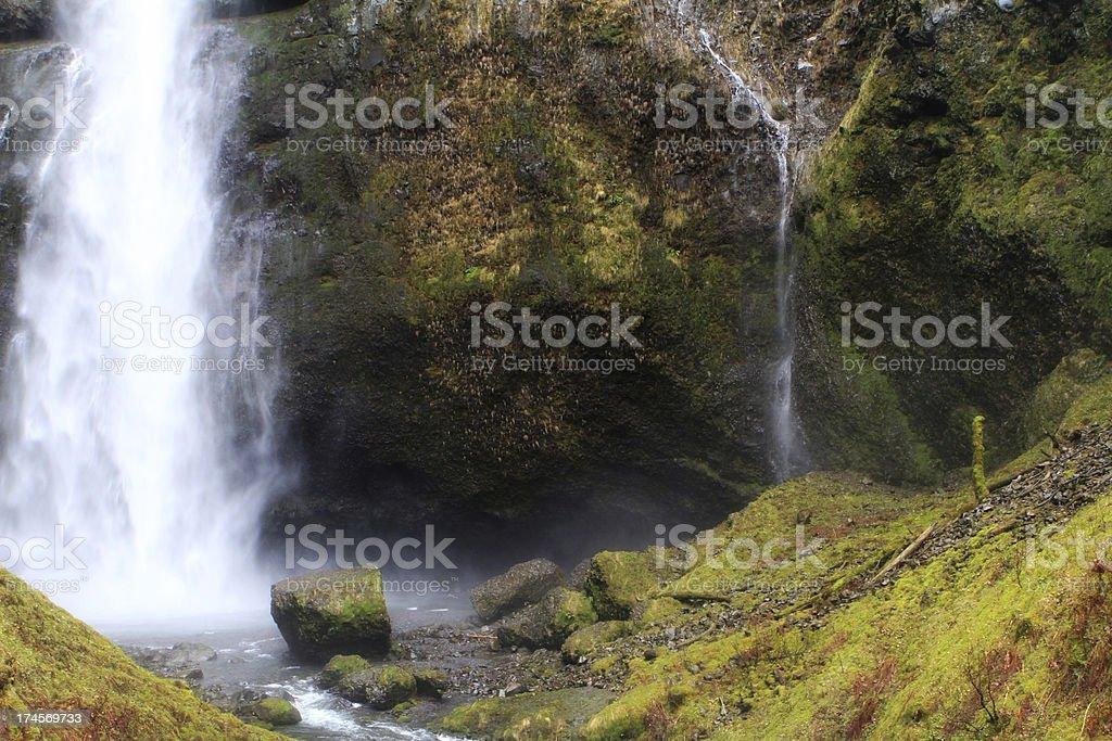 Columbia River Gorge Waterfall stock photo