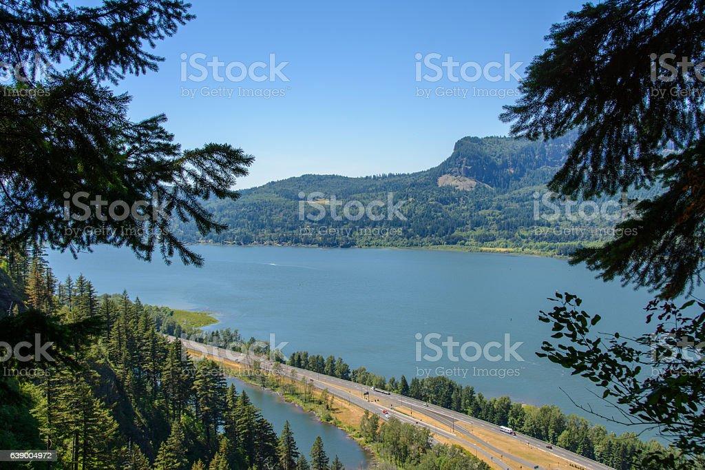 Columbia River in Oregon, USA stock photo