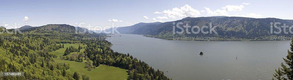 Columbia River Panoramic stock photo