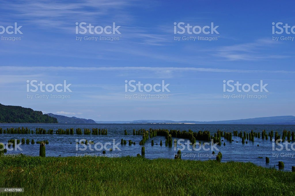 Columbia River Phantom Pier stock photo