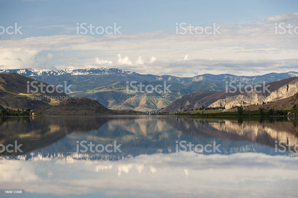 Columbia River Reflections stock photo