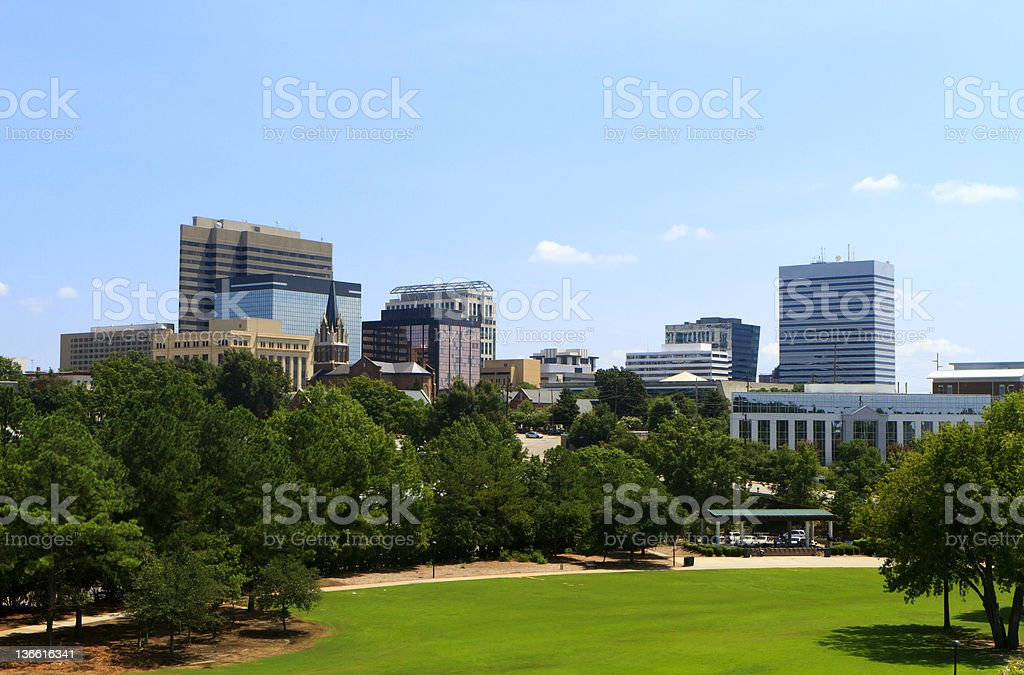 Columbia, SC Skyline - Late Summer stock photo