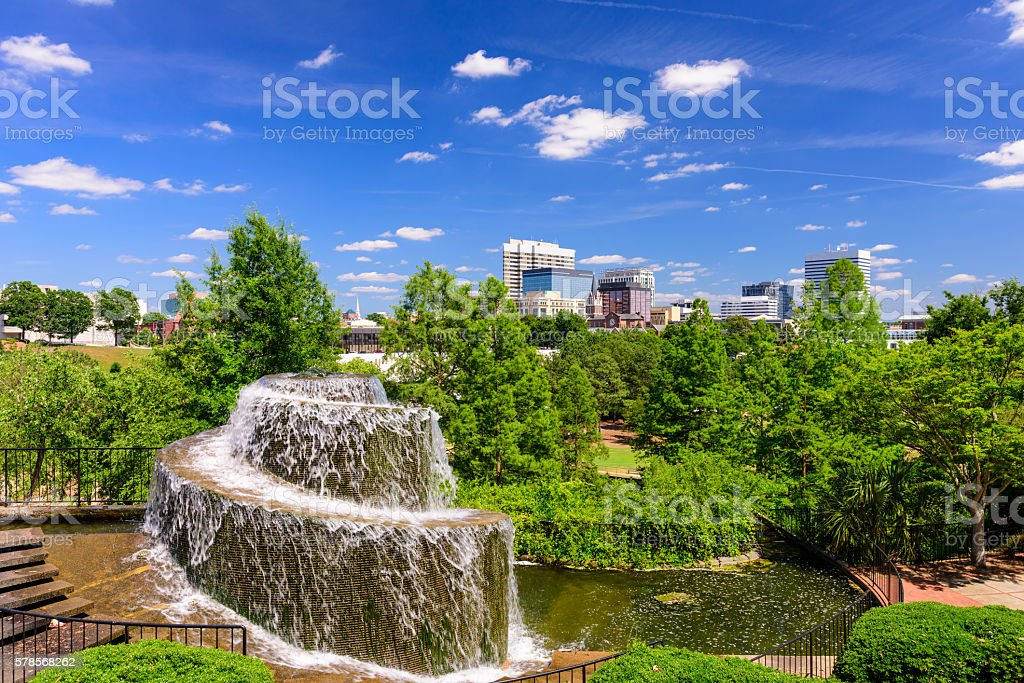 Columbia, South Carolina Fountain stock photo