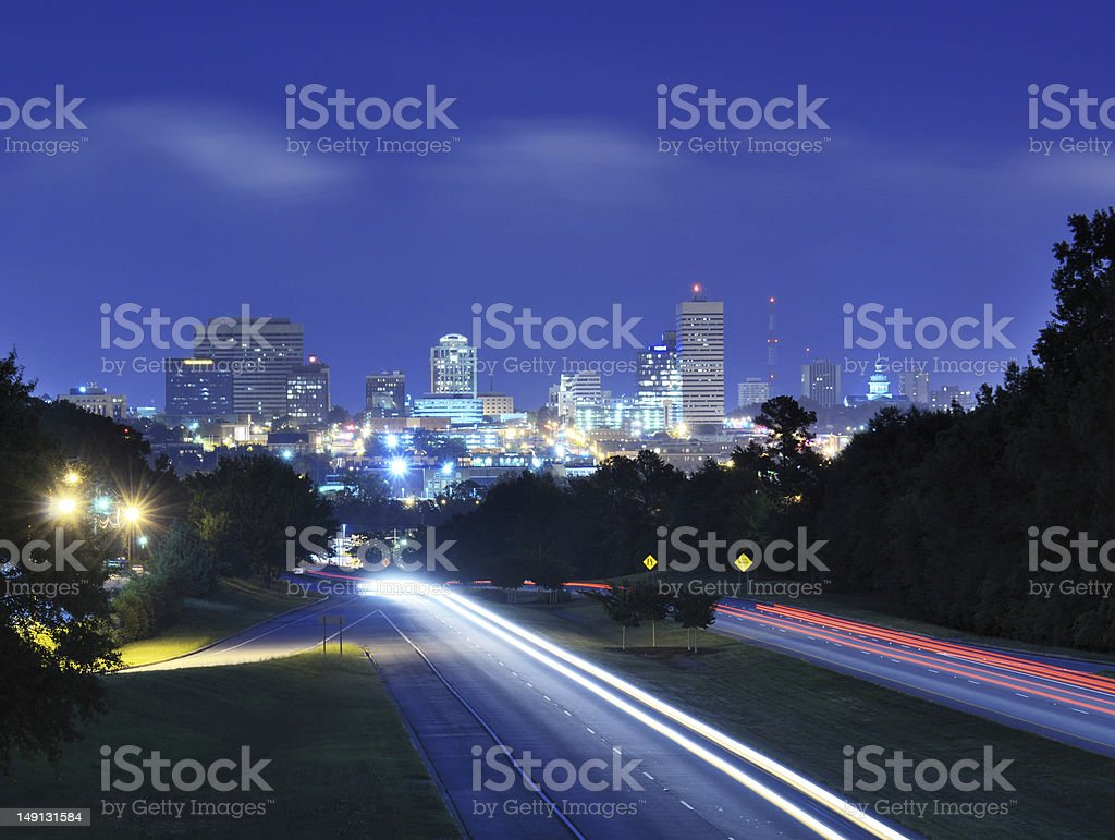Columbia, South Carolina Skyline royalty-free stock photo
