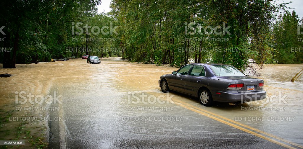 Columbia South Carolina USA - Flood 2015 October stock photo