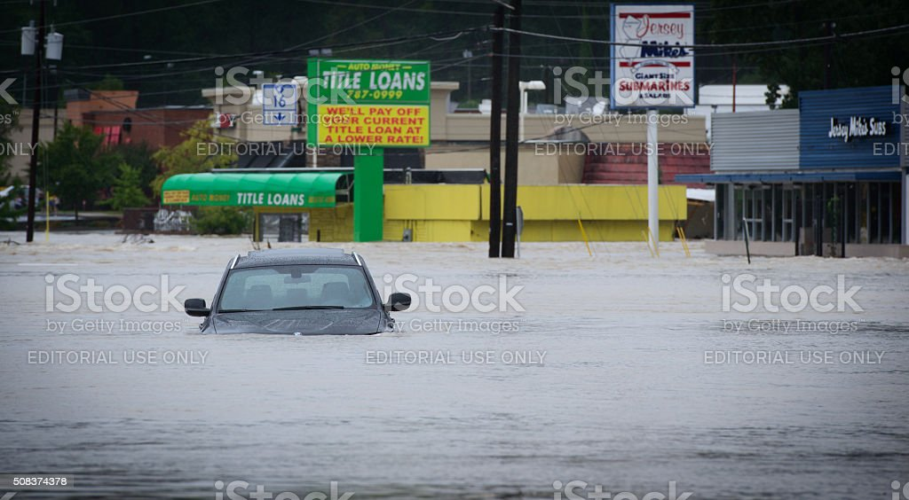 Columbia South Carolina USA - Flood 2015 October stock photo