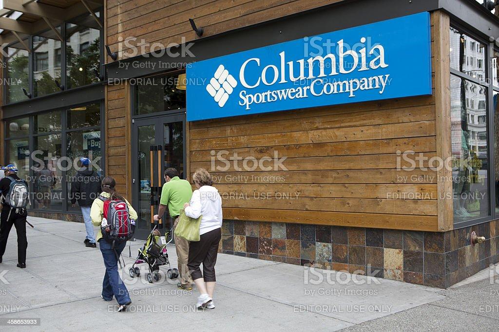 Columbia Sportswear Company in Downtown Seattle stock photo