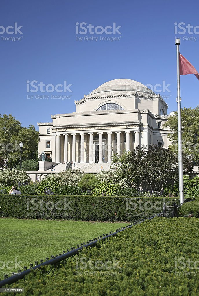 Columbia University Campus stock photo