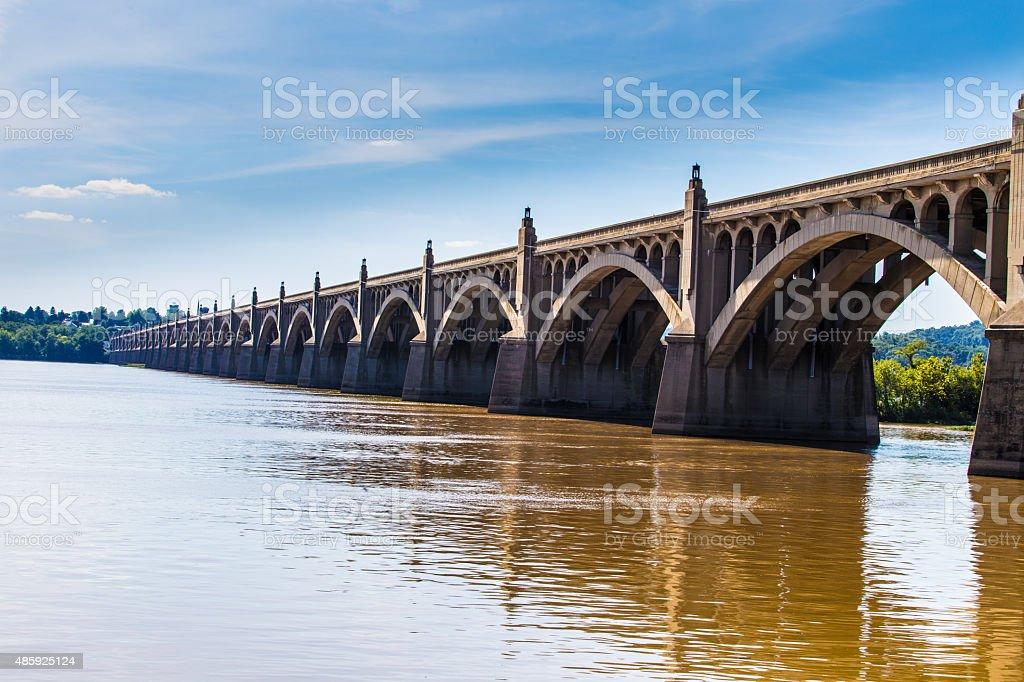 Columbia Wrightsville Bridge stock photo