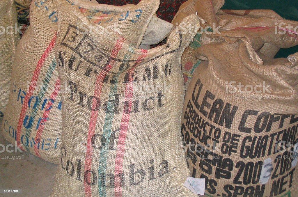 Columbian coffee royalty-free stock photo