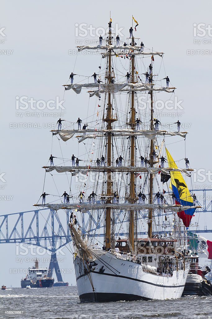 Columbian Tall Ship Gloria stock photo
