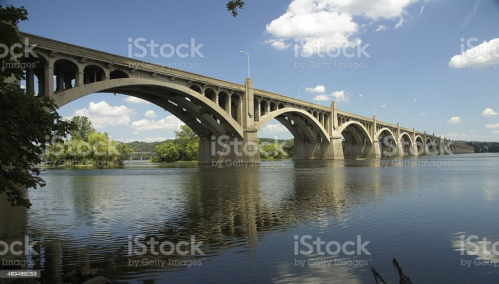 Columbia-Wrightsville Bridge in Pennsylvania royalty-free stock photo