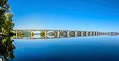 Columbia-Wrightsville Bridge over the Susquehanna River Panorama
