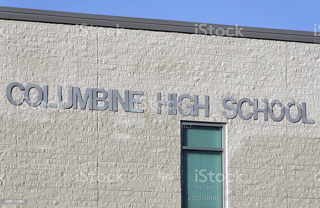 Columbine High School stock photo