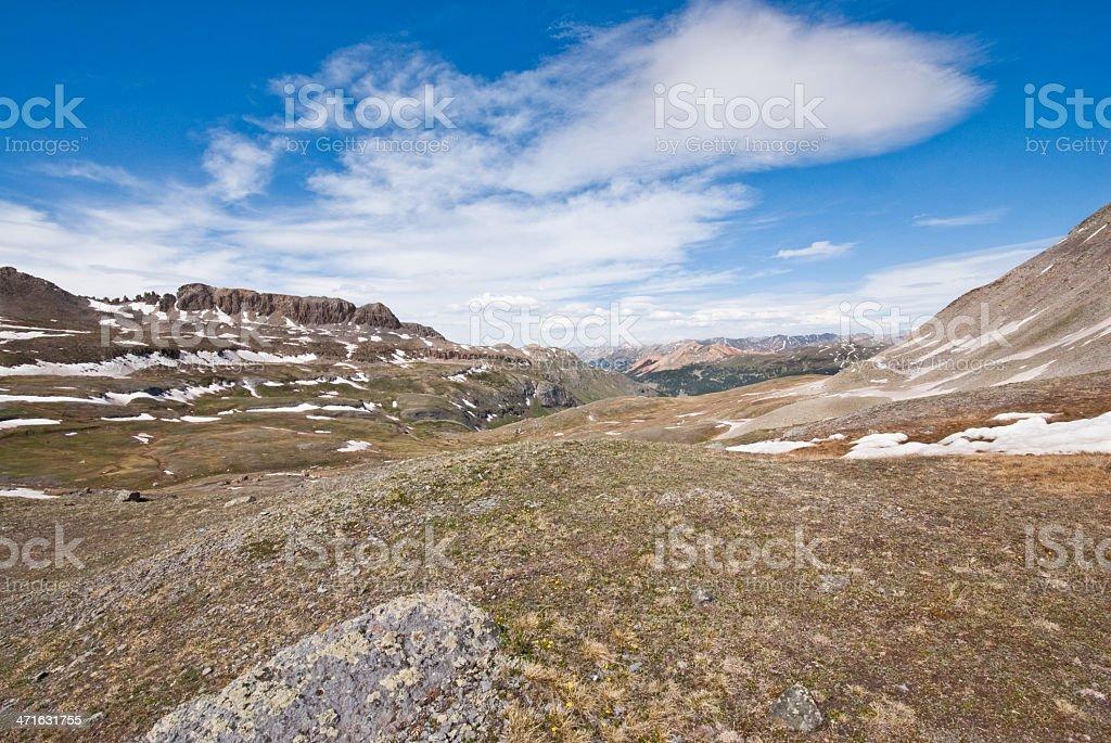 Columbine Lake Pass royalty-free stock photo