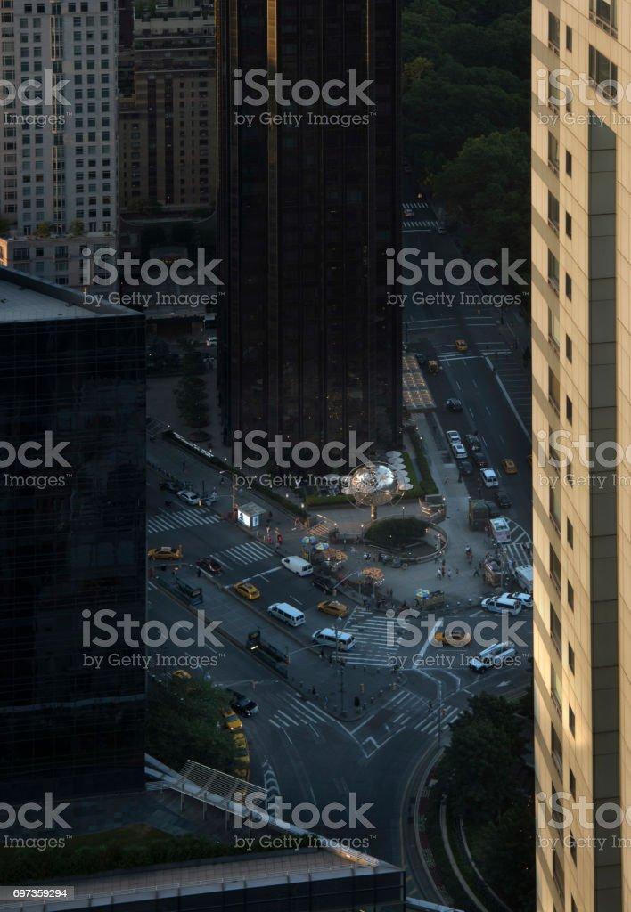 columbus circle, nyc stock photo