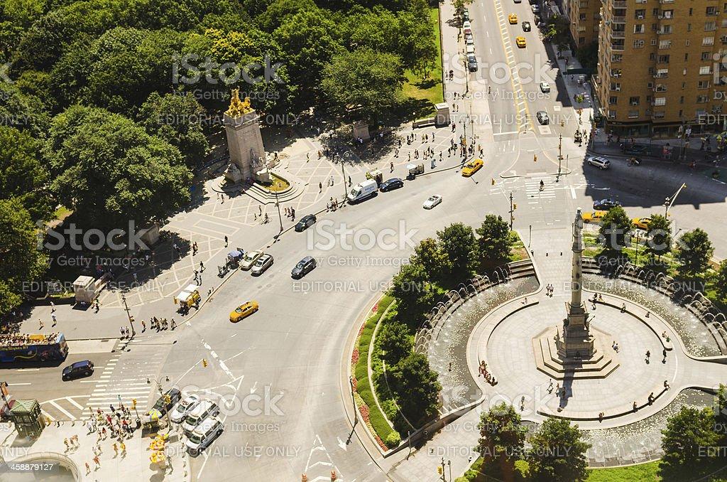 Columbus Circle square in Manhattan royalty-free stock photo