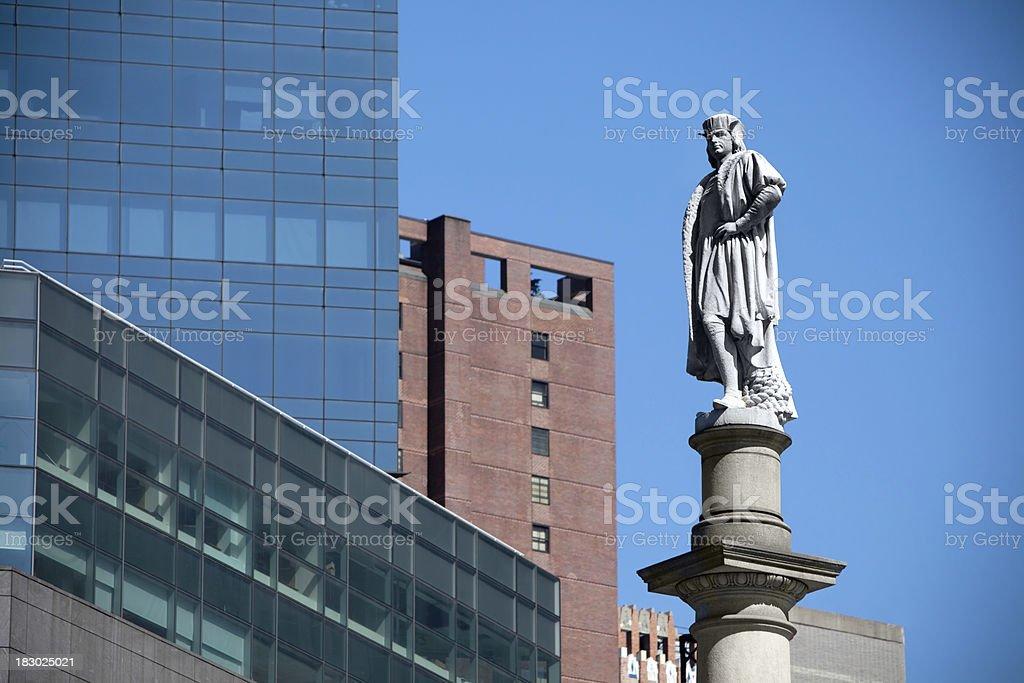 Columbus circle statue close up stock photo