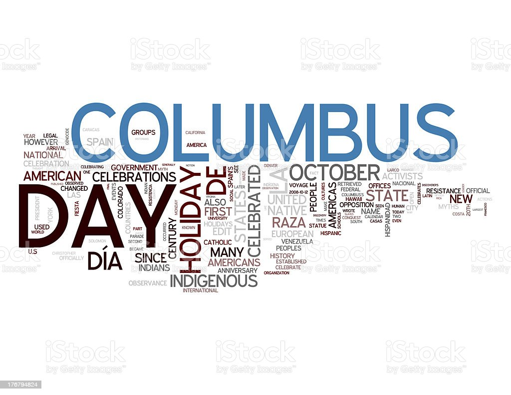 Columbus Day collage concepts stock photo