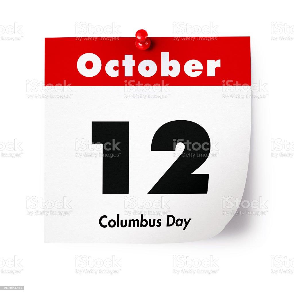 Columbus Day in 2015 stock photo