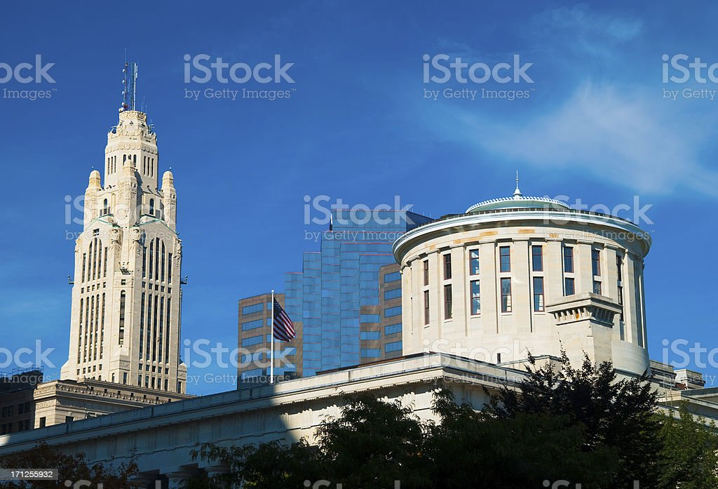 Columbus downtown buildings stock photo