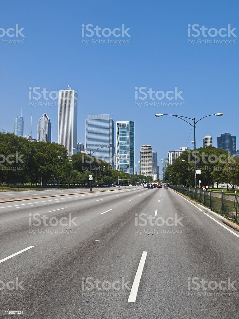 Columbus Drive, Chicago royalty-free stock photo