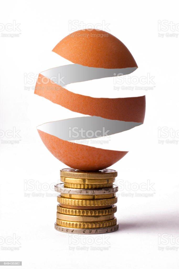 Columbus Egg Skin stock photo