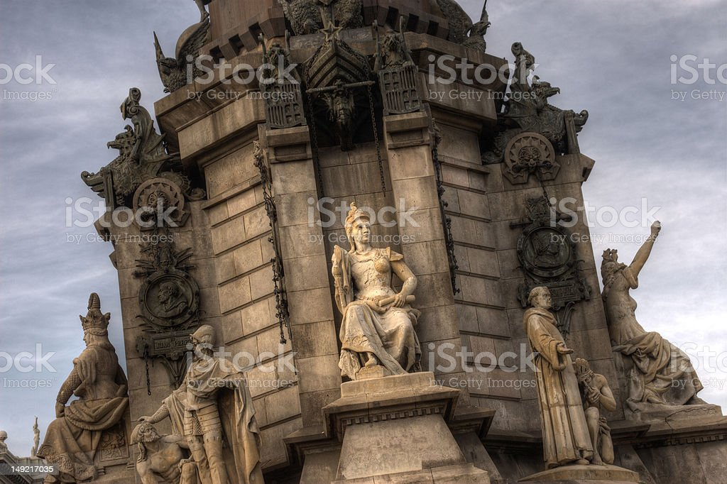 Columbus Monument Barcelona Spain stock photo