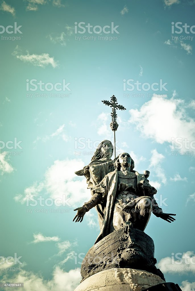 Columbus monument in Valladolid, Spain royalty-free stock photo