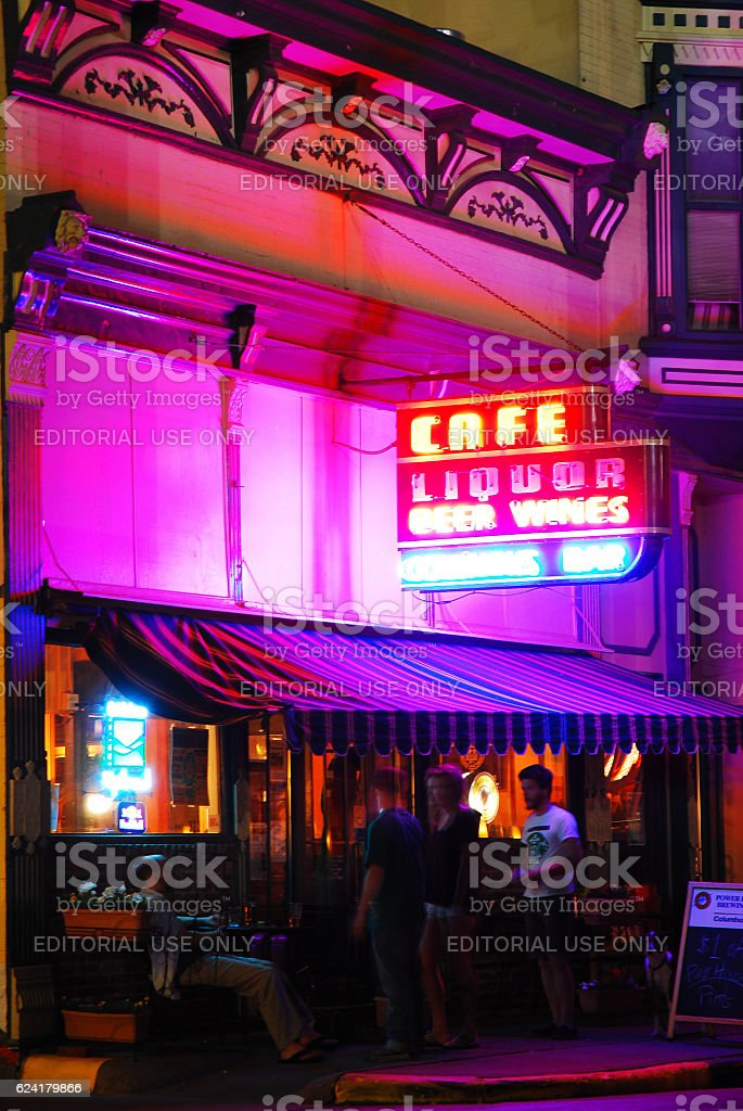 Columbus nightlife stock photo