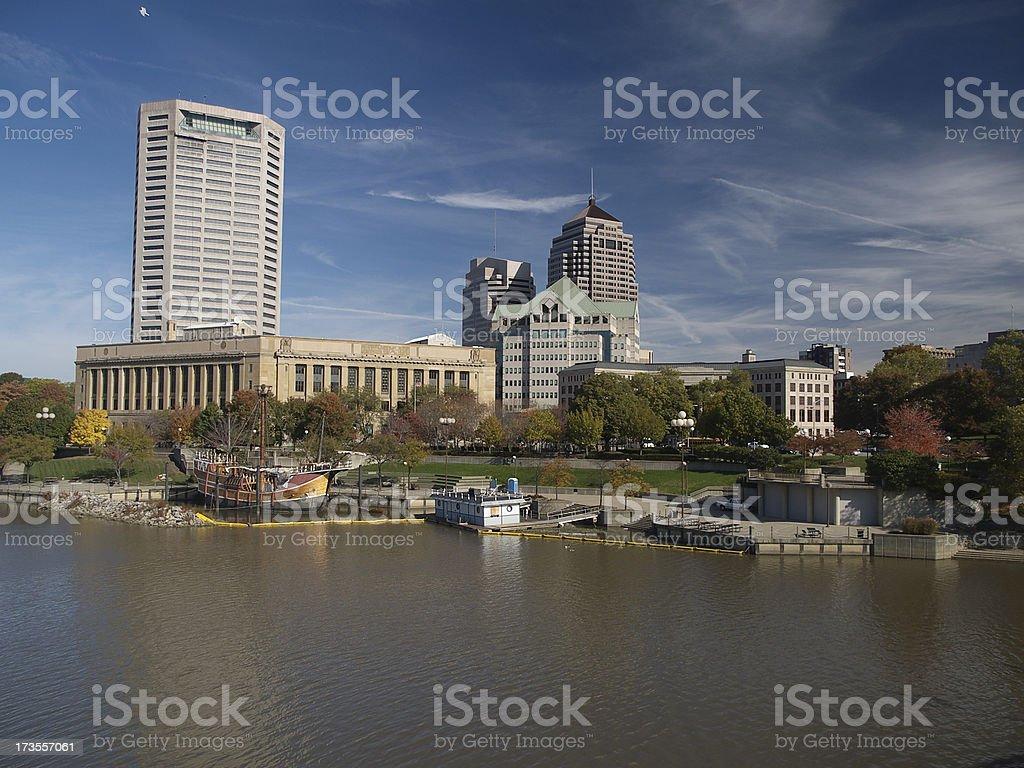 Columbus, Ohio Riverfront royalty-free stock photo
