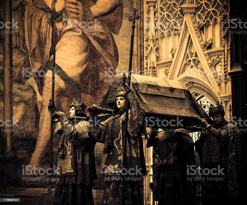 Columbus's sepulcher royalty-free stock photo