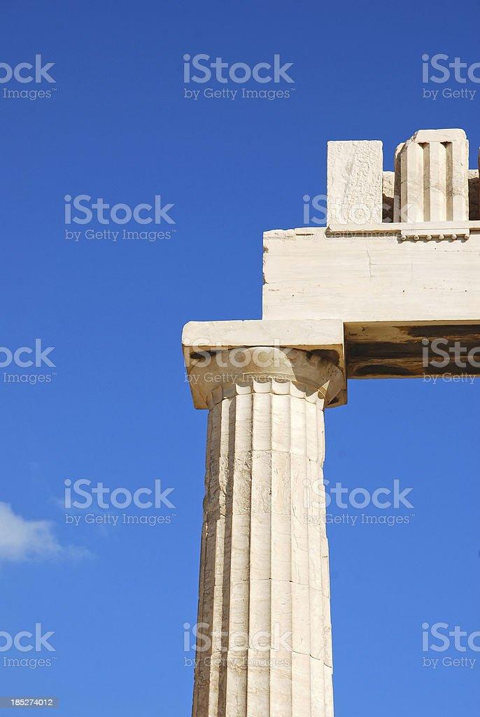 Column , Acropolis, Athens, Greece stock photo
