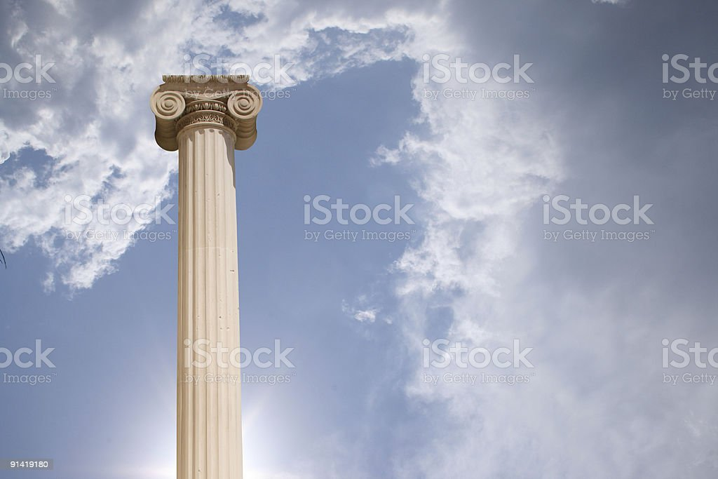 Column against cloudy sky royalty-free stock photo