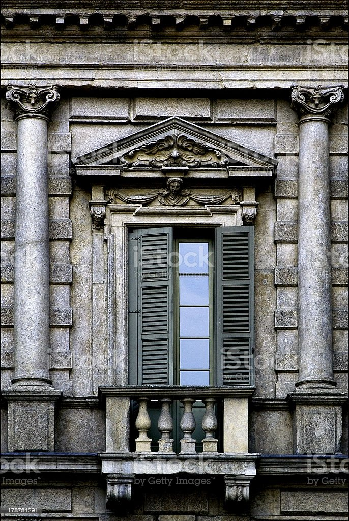 column and glass in verona royalty-free stock photo