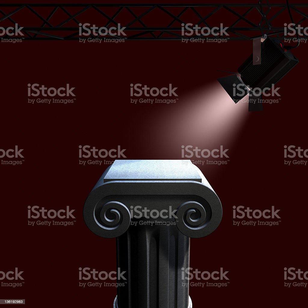 column and light royalty-free stock photo