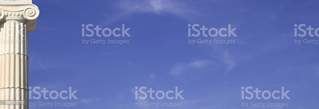 Column and sky royalty-free stock photo