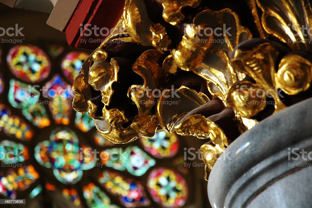 Column and Window royalty-free stock photo