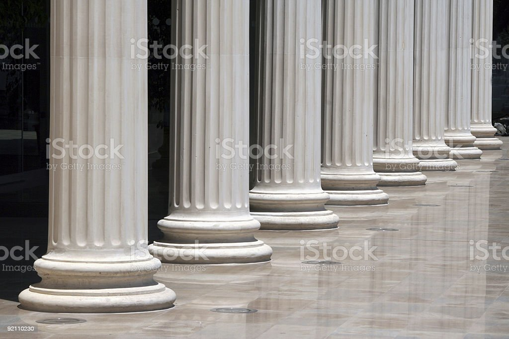 Column array stock photo