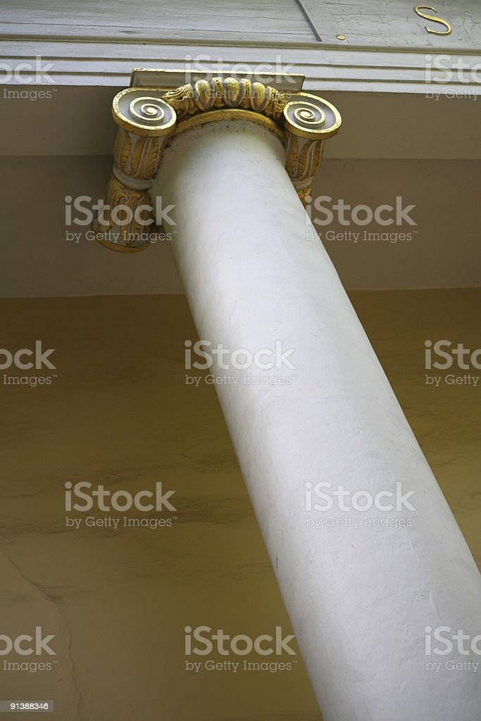 Column at a theater royalty-free stock photo