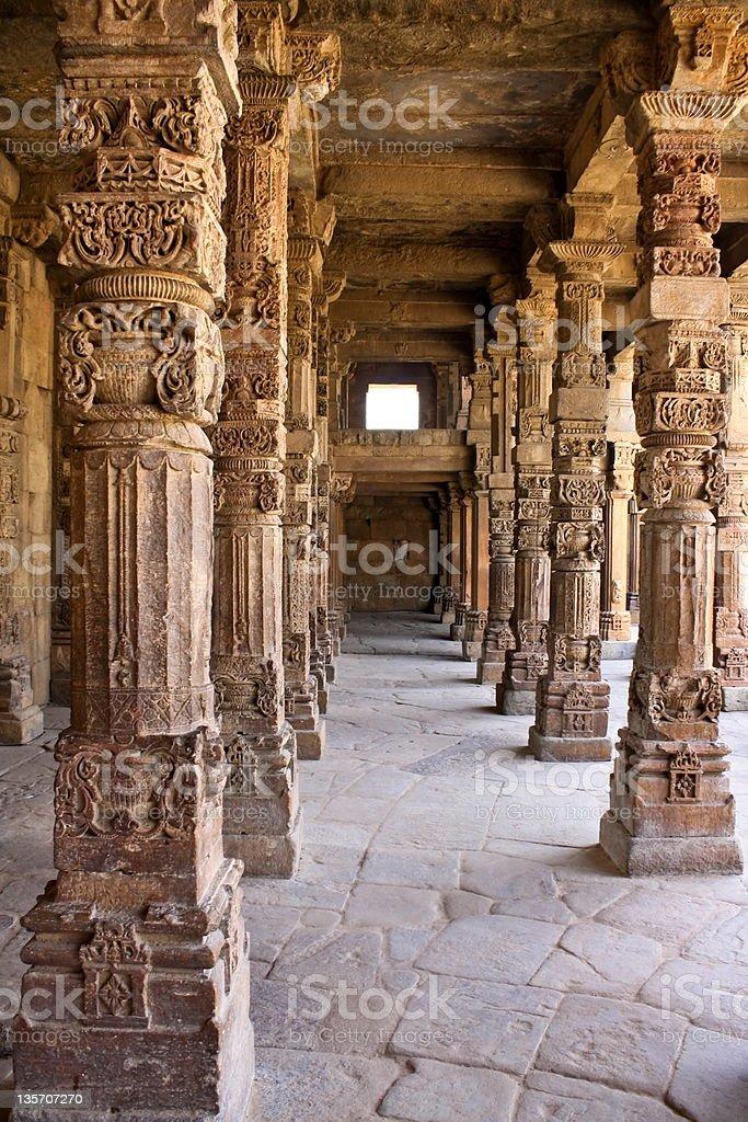 Column at Qutb Minar royalty-free stock photo