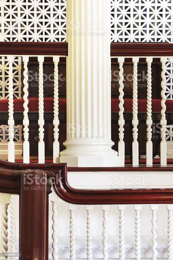 Column Bannister Railing Architecture royalty-free stock photo