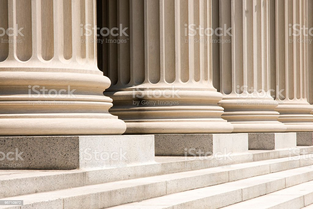 Column Bases and steps royalty-free stock photo