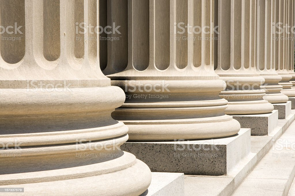 Column Bases stock photo