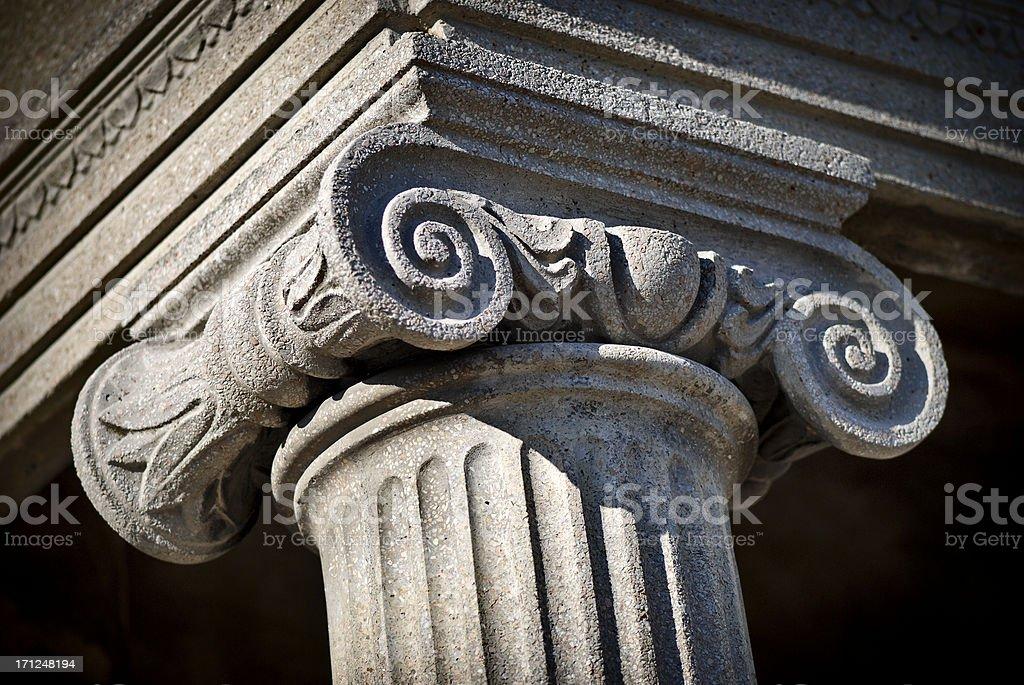 Column capital stock photo