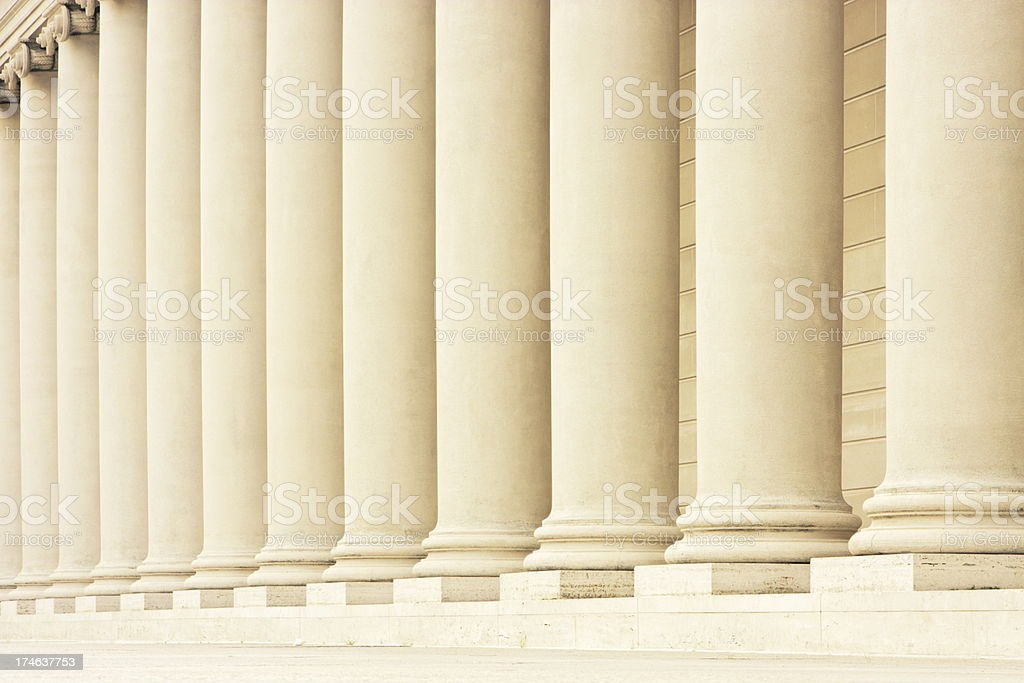 Column Colonnade Greco Roman Architecture stock photo
