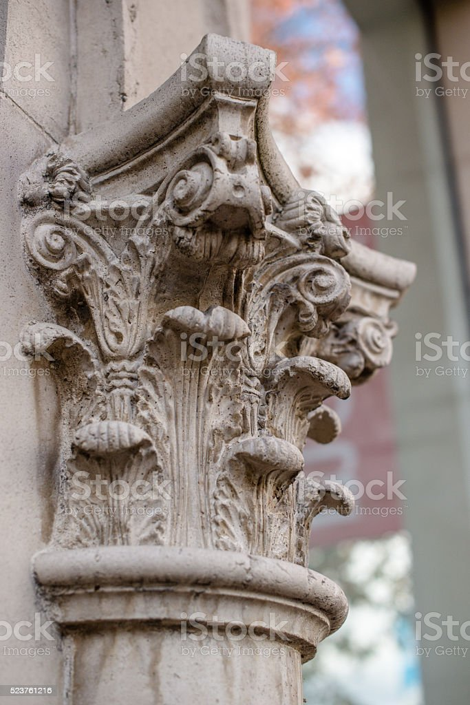 Column Detail Architectural Column stock photo